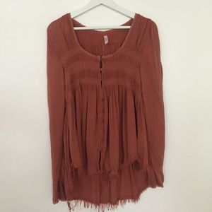 Free People Long sleeved blouse S